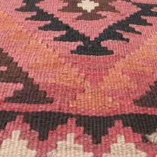 3 3 x 6 3 ottoman kilim rug in brown and pink