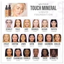 Younique Shade Chart 2 Younique Mineral Touch Liquid Foundation Boutique