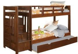 bunk beds with stairs. This Elegant Creation Sports An Angular, Minimalist Framework, Holding Extra Trundle Bed Below Bunk Beds With Stairs