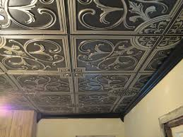 How To Install Decorative Ceiling Tiles Decor Faux Tin Ceiling Tiles Decorative Ceiling Tile Flat 100 Antique 35