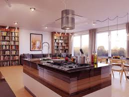 Island In Kitchen Kitchen Practical Kitchen Island In Oval Shape With Bookshelf In
