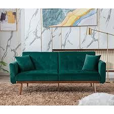 velvet futon sofa bed with 5 golden