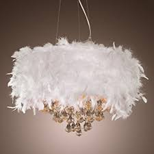 Modern Chandelier Pendant Light, 3 Lights with Crystal Beaded Drum Shade  Electroplated Finish Ceiling Lamp