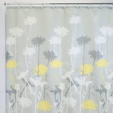 com interdesign daizy shower curtain gray and yellow 72 x 72 inch home kitchen