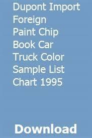 Kubota Paint Chart Dupont Import Foreign Paint Chip Book Car Truck Color Sample