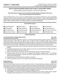 Resume Templates Consulting Management Impressive Skills Examples