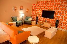 Burnt Orange And Brown Living Room Concept Simple Ideas