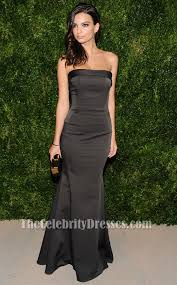 Emily Ratajkowski Black Evening Dress Cfdavogue Fashion Fund