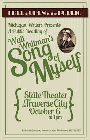 community reading of whitman s song of myself on oct  walt whitman reading