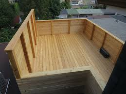 toronto roofing deck rooftop carpentry construction wood cedar annex walkout installation patio flat roof decks