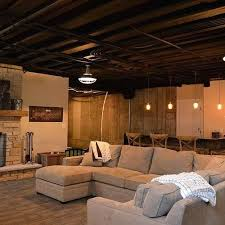painted basement ceiling ideas. Basement Ceiling Painted Ideas Black Plus Suspended Floating Panels Materials .
