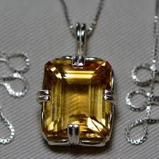 citrine necklace certified 19 40 carat