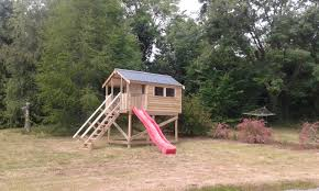kids tree houses. Kids Treehouses. 01 10x6 Tongue And Groove Treehouse 5ft Stand With Slide · 02 Barrelboard Metal Roof Tree Houses
