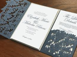 Navy Blue Wedding Invitations Slate Blue Wedding Invitations