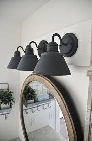 black bathroom lighting fixture