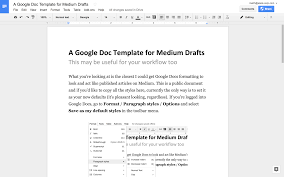 Gooogle Doc A Google Docs Template For Medium Writers 15 Minutes In