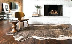 cow rugs hide photo inspirations brown tan cowhide rug western faux animal beige ikea uk