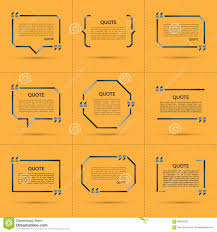 set of vector quote templates stock vector image 68263923 set of vector quote templates