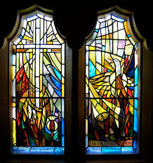 contemporary stained glass window panels