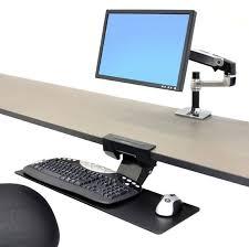 ergotron 97 582 009 neo flex underdesk keyboard arm pertaining to under desk tray no s