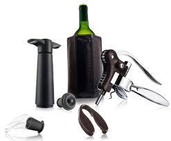 """<b>Подарочный набор</b> """"Профи"""" от Vacu Vin серебряный, чёрный ..."""