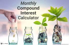 Compound Interest Chart Pdf Monthly Compound Interest Calculator