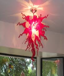 red blown glass pendant lighting for decoration