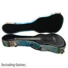 26 tenor hawaii style pattern leather ukulele case light light light bluee 30568e