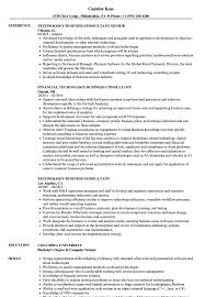 Technology Business Consultant Resume Samples Velvet Jobs