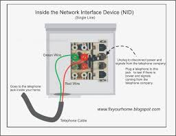telephone wiring diagram outside box telephone network interface