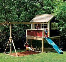 prevnav nextnav kids outdoor wooden playhouse swing set detailed plan