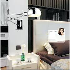 sconce free bedroom modern wall lamp swing arm wall sconce bedside wall lighting reading