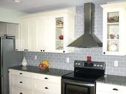 light gray kitchen wall tiles grey what colour walls gloss glass subway tile in cream cabinet
