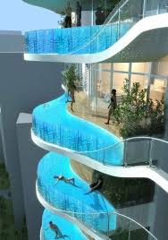 residential infinity pool.  Pool Infinity Pool Balconies  Aquaria Grande Residential Towers Mumbai India  I Must Stay Here With H