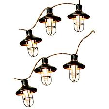 15 Count Led Commercial Style Globe Lights 10 Ct Metal Lantern Patio Lights At Home