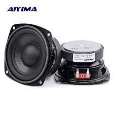 AIYIMA 2Pcs 4 inch 50W Subwoofer Audio Speaker Portable Mini Stereo 4 Ohm  8Ohm Speakers Woofer Full Range Car Horn Loudspeaker|Combination Speakers