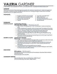 Program Manager Resume Example Senior Sample Retail Management