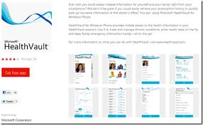 Windows Phone Apps For Microsoft Healthvault Personal Health Record