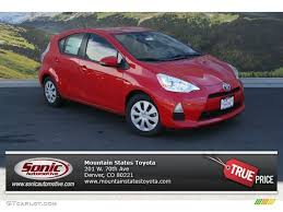 2014 Absolutely Red Toyota Prius c Hybrid Two #91703836 | GTCarLot ...