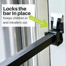 awesome patio door lock bar for patio door security bar 85 sliding glass door lock bar