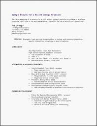 Resume Examples For Students Sample Resume Template Samples Nanny