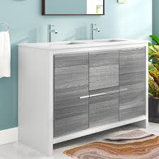bosley 48 double sink modern bathroom vanity set