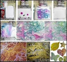 shaving cream marbling acrylic paint transfer technique painting art project 17 diy projects