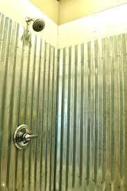 metal shower walls stall