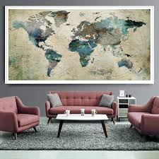 extra large wall art canada push pin world map print decor abstract painting poster extra large wall art canada  on extra large wall art canada with extra large canvas wall art uk red abstract painting prints in a
