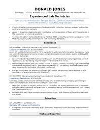 Lab Skills Resume Resume Work Template