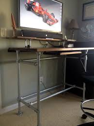 i built the desk from galvanized pipe kee klamp ings and furniture grade lumber from s pre made wood table tops and all i did was