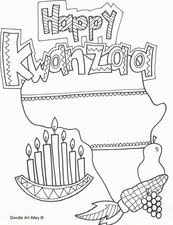 Kwanzaa coloring page from kwanzaa category. Kwanzaa Coloring Pages Religious Doodles