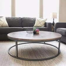 In this video i show you how i go about making some industrial furniture. Round Walnut Wood And Metal Coffee Table Coffee Table Round Coffee Table Living Room Living Room Coffee Table