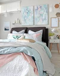 Pastel Bedroom Contemporary Modern Pastel Bedroom With Grey Blue And Pink